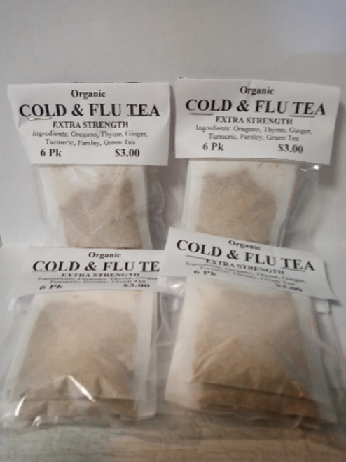 Organic Cold & Flu Tea Bags (4 pack Min)