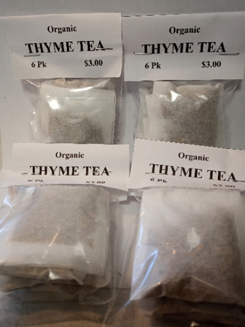 Organic Thyme Tea Bags (4 pack Min)