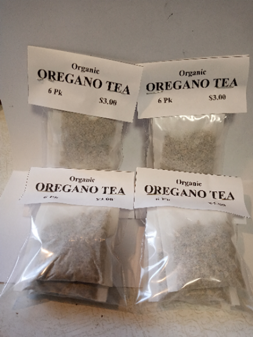 Organic Oregano Tea Bags (4 pack Min)
