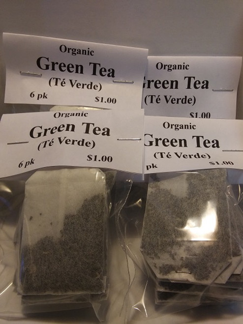 Organic Green Tea Bags (4 pack Min)