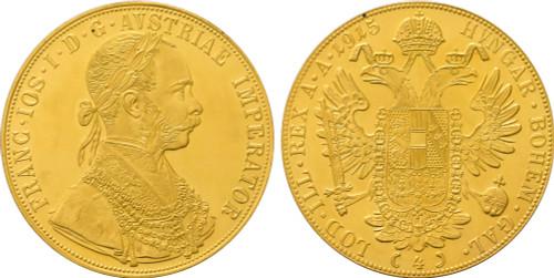 1915 Austria 4 Ducat Franz Joseph I Restrike UNC
