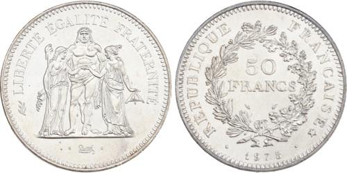1975 : France 50 FRANCS Republic