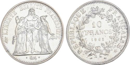 1965 France 10 FRANCS Republic