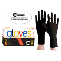 Product Club jetBlack Disposable Vinyl Gloves 90ct