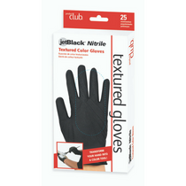 Product Club Jetblack Nitrile Textured Gloves 25 - Sm/Med