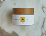 Organic Hive - MASSAGE Cream  1500 mg CBD Made with organic honey, mango seed oil, Avocado oil, coconut oil, Caryophyllene, Vitamins A, C, D, and E Macadamia nut oil, Aloe, Lavender oil & Shea butter. This product contains NO THC!