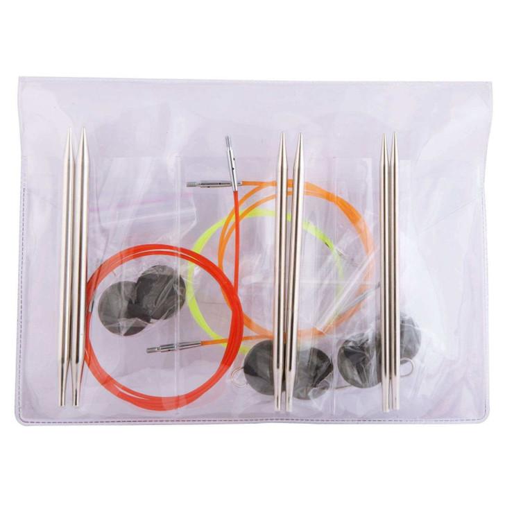 KnitPro Nova Metal Interchangeable Needle Starter Set