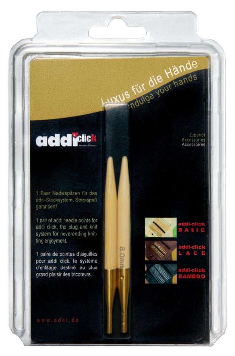 addi Click Bamboo Interchangeable Circular Needle Tips