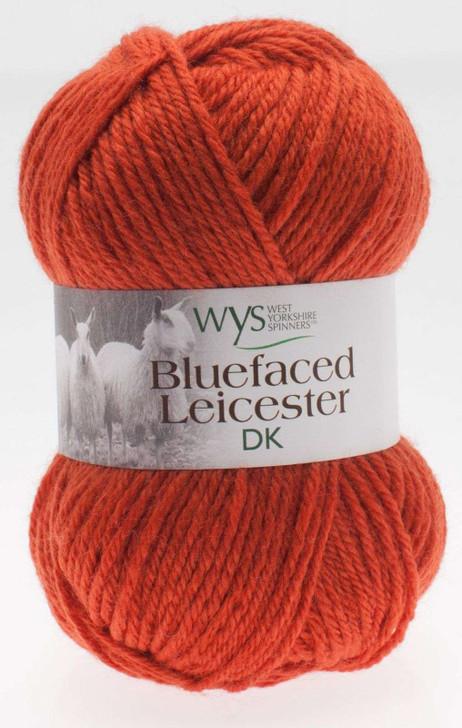 WYS Blue Faced Leicester DK Yarn - 50g - Burnt Orange (250)