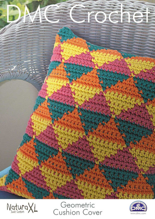 DMC: Geometric Cushion Crochet Pattern