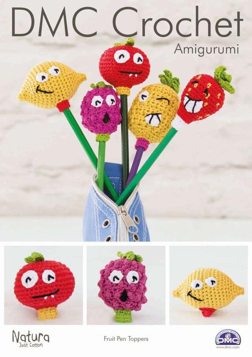 DMC: Fruit Pen Toppers Amigurumi Crochet Pattern