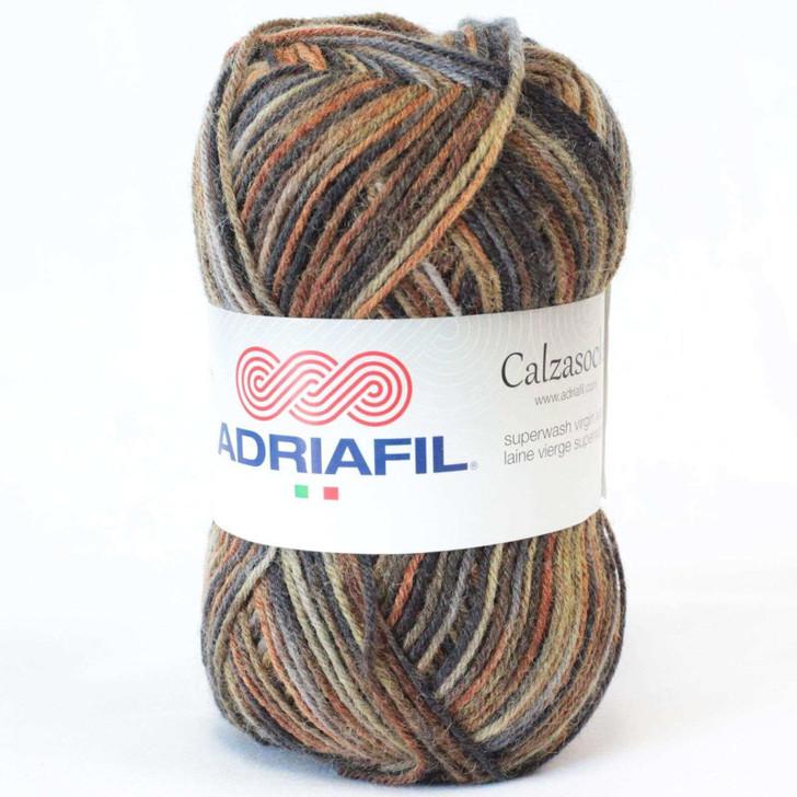 Adriafil Calzasocks Sock Yarn - Multi-Brown (010)
