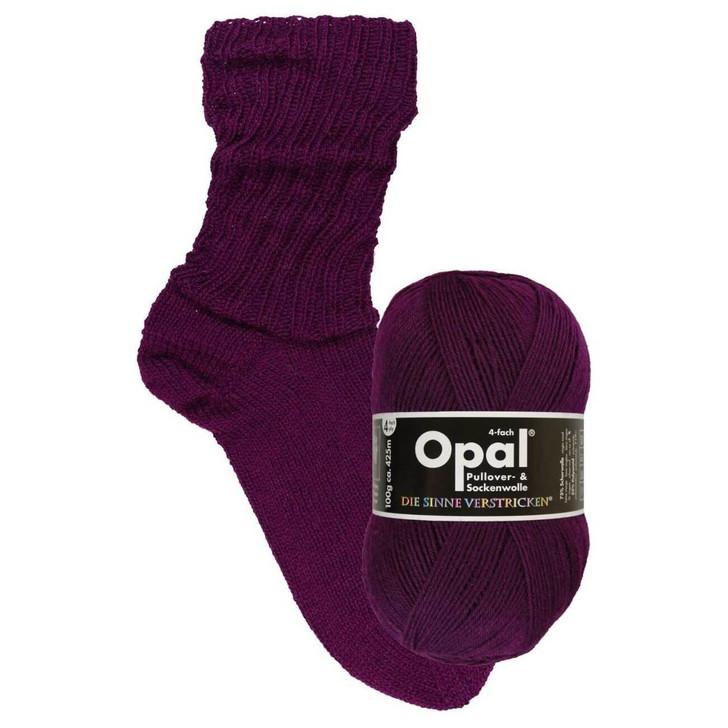 "Opal ""Uni"" Solid Sock Yarn - Berry (9938)"