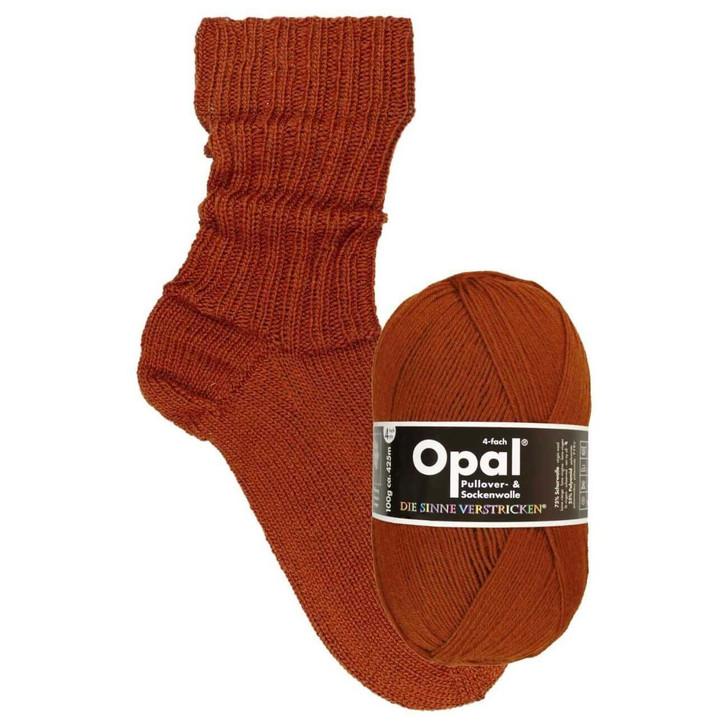 "Opal ""Uni"" Solid Sock Yarn - Rust-Brown (9941)"