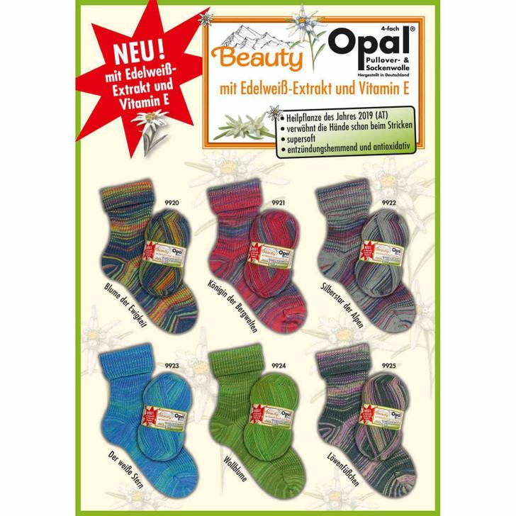 "Opal ""Beauty"" 4ply Sock Yarn with Edelweiss Extract - Full Range"