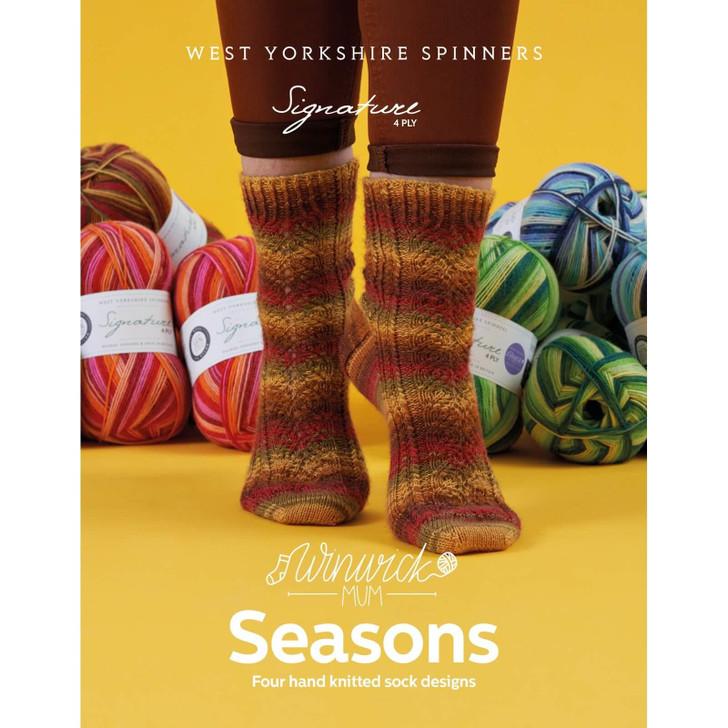 WYS Knitting Winwick Mum Seasons Sock Pattern Book