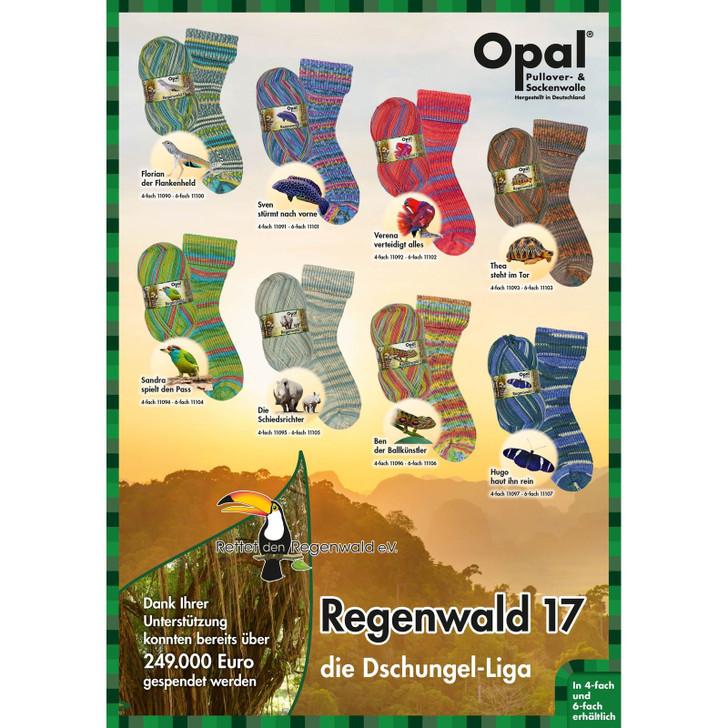 """Opal """"Rainforest 17 / Regenwald 17"""" 4ply Sock Yarn - Full Range"""