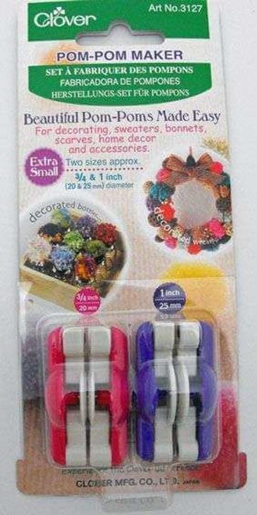 Clover Pom-Pom Makers - Set of 2 (20 & 25mm)