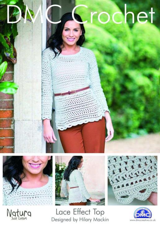 DMC: Lace Effect Top Crochet Pattern
