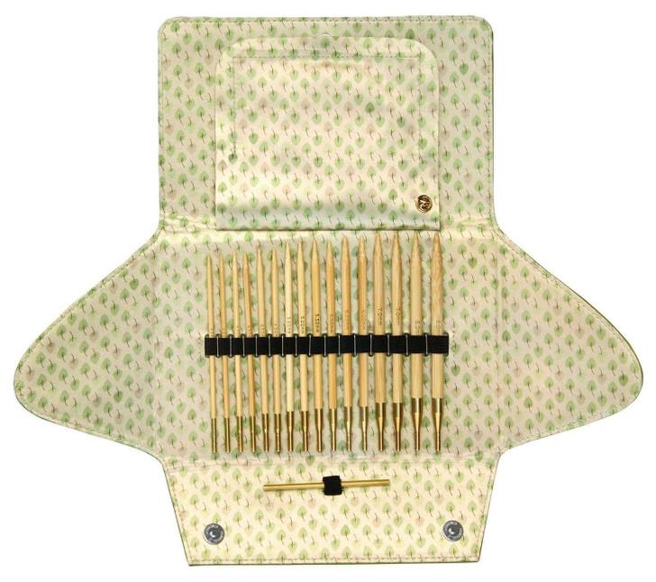 addi Click Bamboo Interchangeable Circular Knitting Needle Set