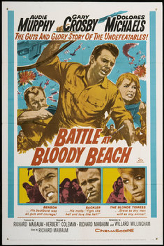 Battle at Bloody Beach Audie Murphy Dvd