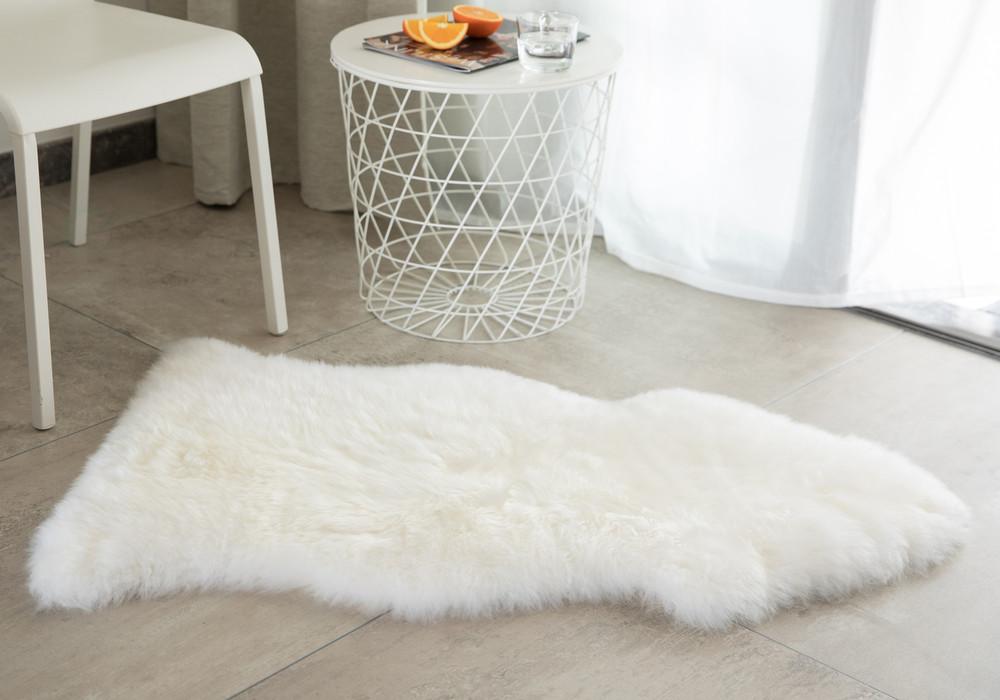 Genuine Australian Lamb Fur Sheepskin Rug Natural Single Pelt