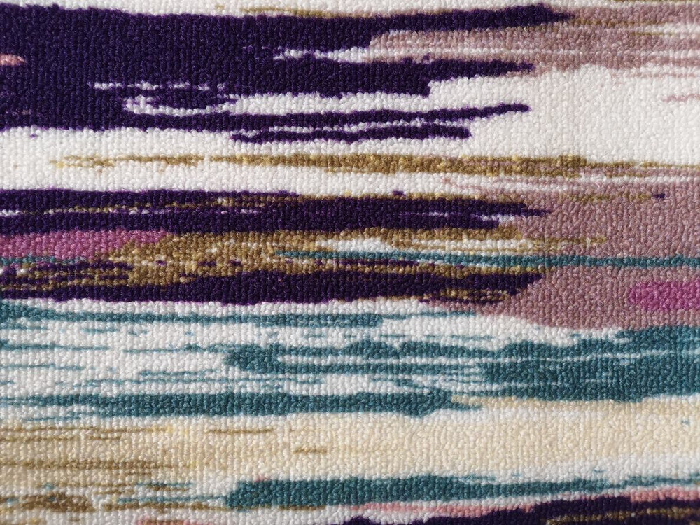 Deerlux Modern Living Room Area Rug with Nonslip Backing, Abstract Brushstrokes and Glitter Pattern