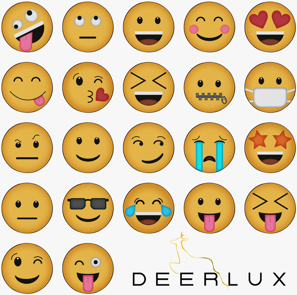 Deerlux Emoji Style Round Funny Smiley Face Kids Area Rug, Tongue Out with Closed Eyes Emoji Rug
