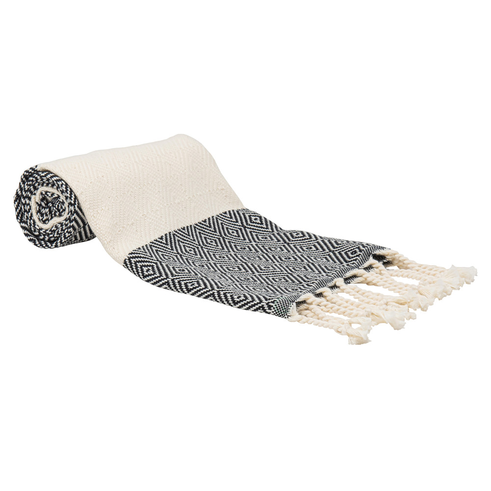 "Deerlux 100% Cotton Turkish Hand Towels, Set of 2 18"" x 40"" Diamond Peshtemal Kitchen and Bath Towels"