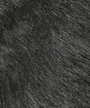Extra Large 5 x 7 Ft. Brazilian Genuine Natural Leather High Quality Real Hair on Cowhide Rug, Solid Black