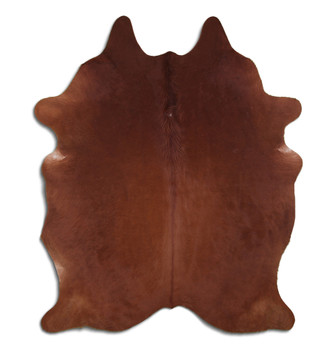 Brazilian Genuine Natural Leather High Quality Real Hair on Cowhide Rug, Brown