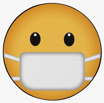 Deerlux Emoji Style Round Funny Smiley Face Kids Area Rug, Mask Emoji Rug