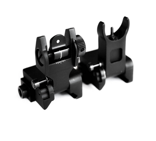 AT3™ Pro Series Flip-Up Backup Iron Sights (BUIS) – Front & Rear Set – Same Plane – IS-09
