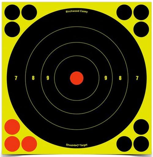 SHOOT•N•C® 8 INCH BULL'S-EYE, 6 TARGETS - 72 PASTERS