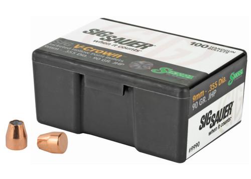 9mm 90 GR. JHP V-Crown Bullets