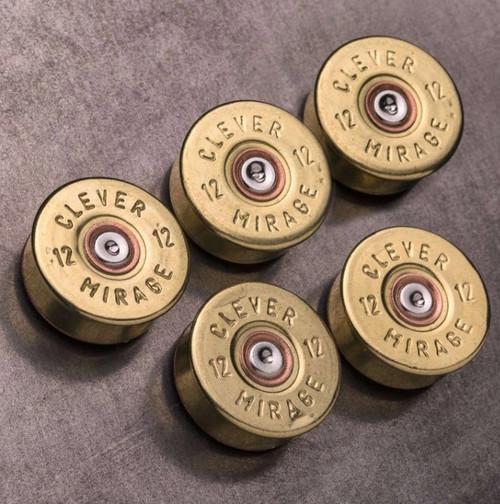 12 Gauge Real Bullet Magnets - Brass (5 per pack)