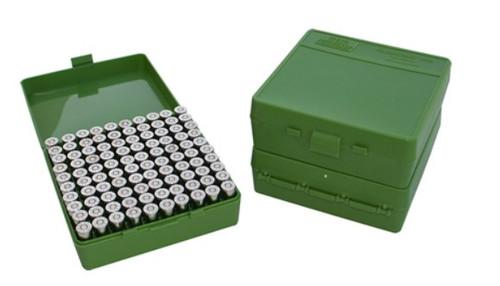 MTM Case-Gard P-100-9 9mm Ammo Box (100 Round)