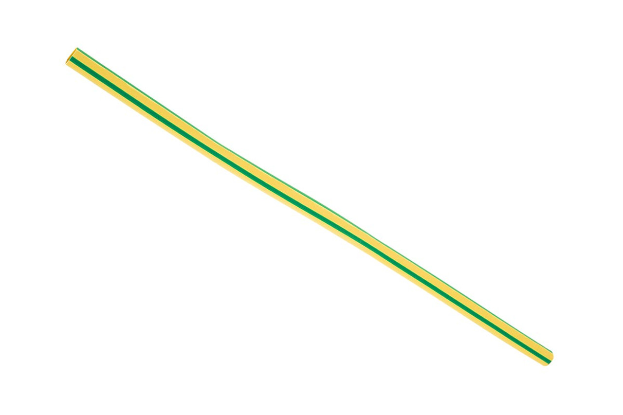 Heat Shrink Tubing - Yellow with Green Stripe