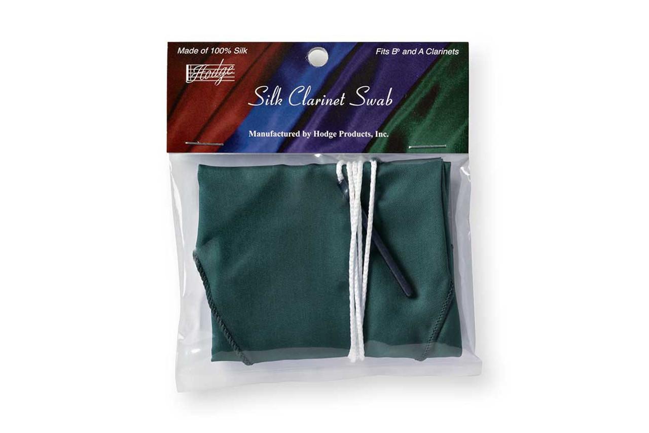 Hodge Silk Clarinet Swab - Forest Green