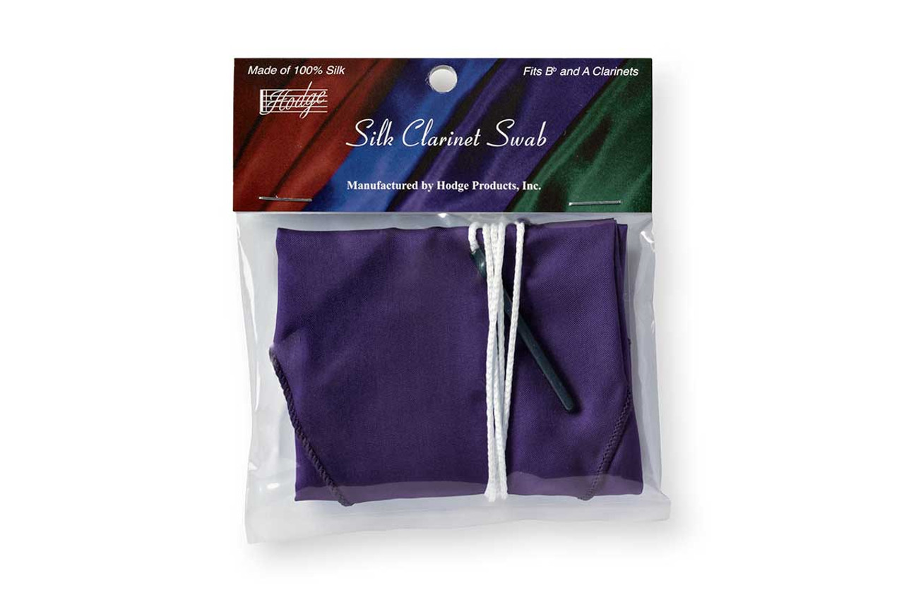 Hodge Silk Clarinet Swab - Deep Purple