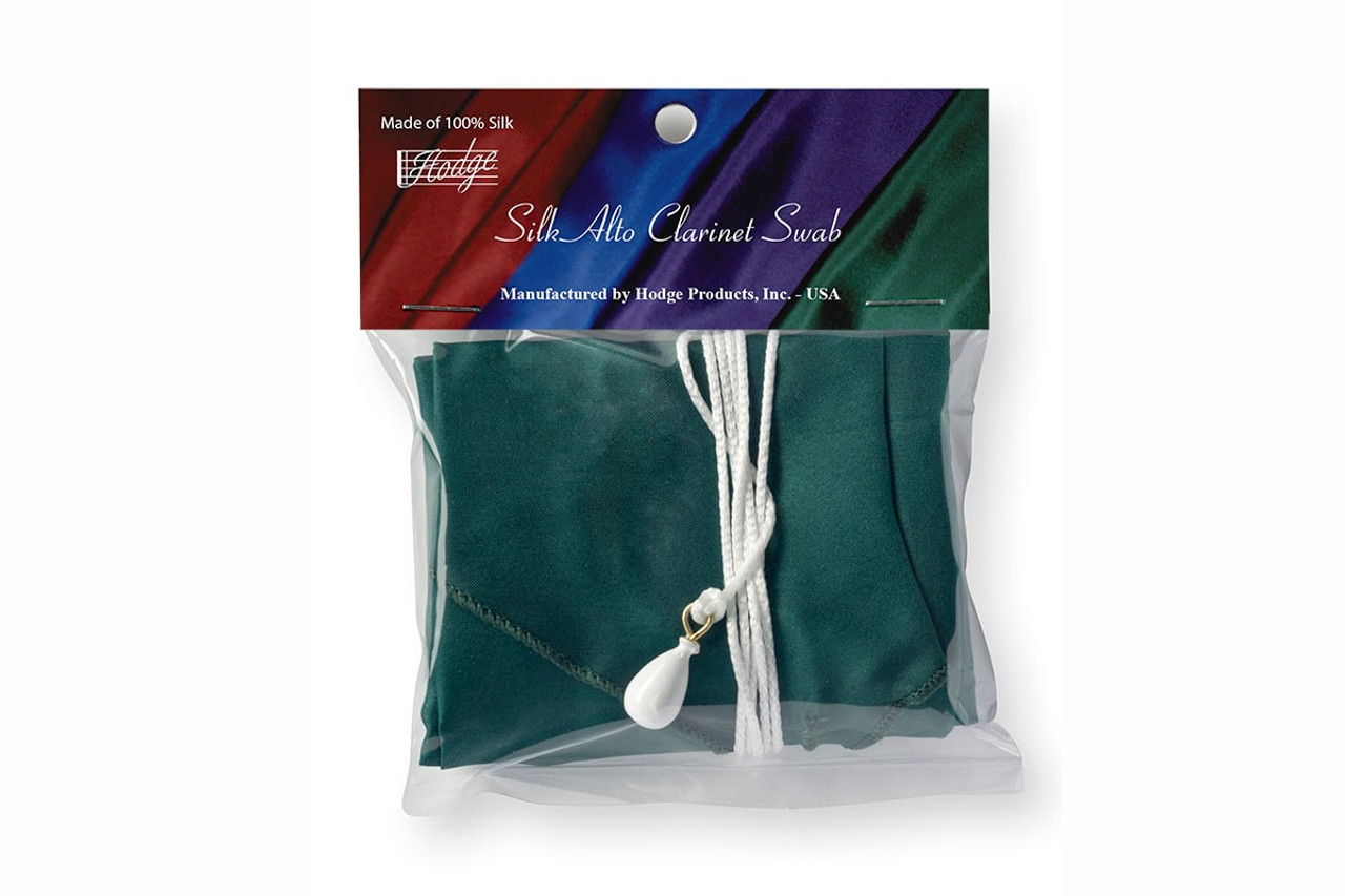 Hodge Silk Alto Clarinet Swab - Forest Green