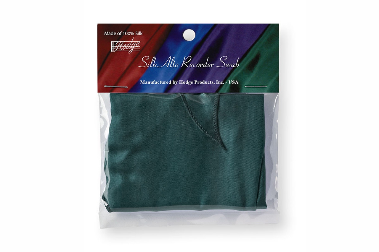 Hodge Silk Alto Recorder Swab - Forest Green