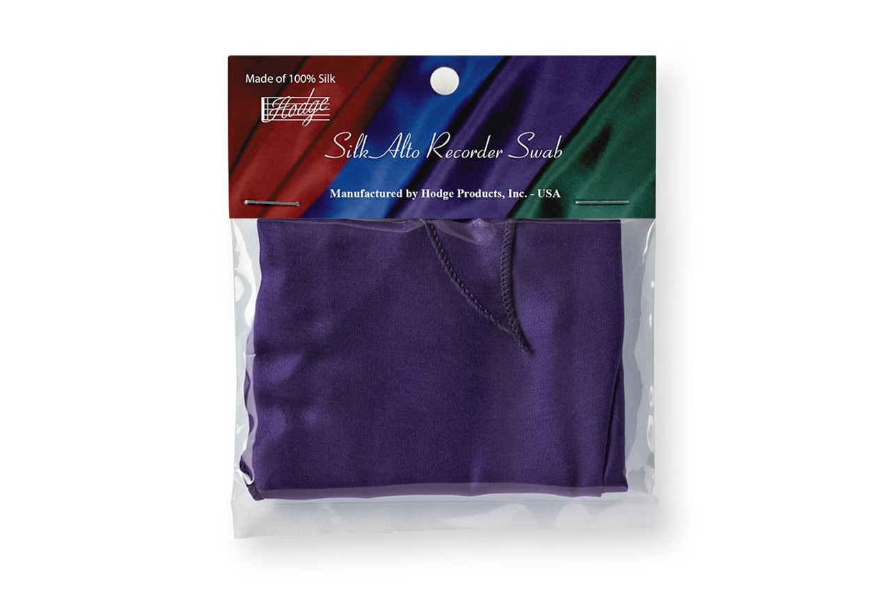 Hodge Silk Alto Recorder Swab - Deep Purple