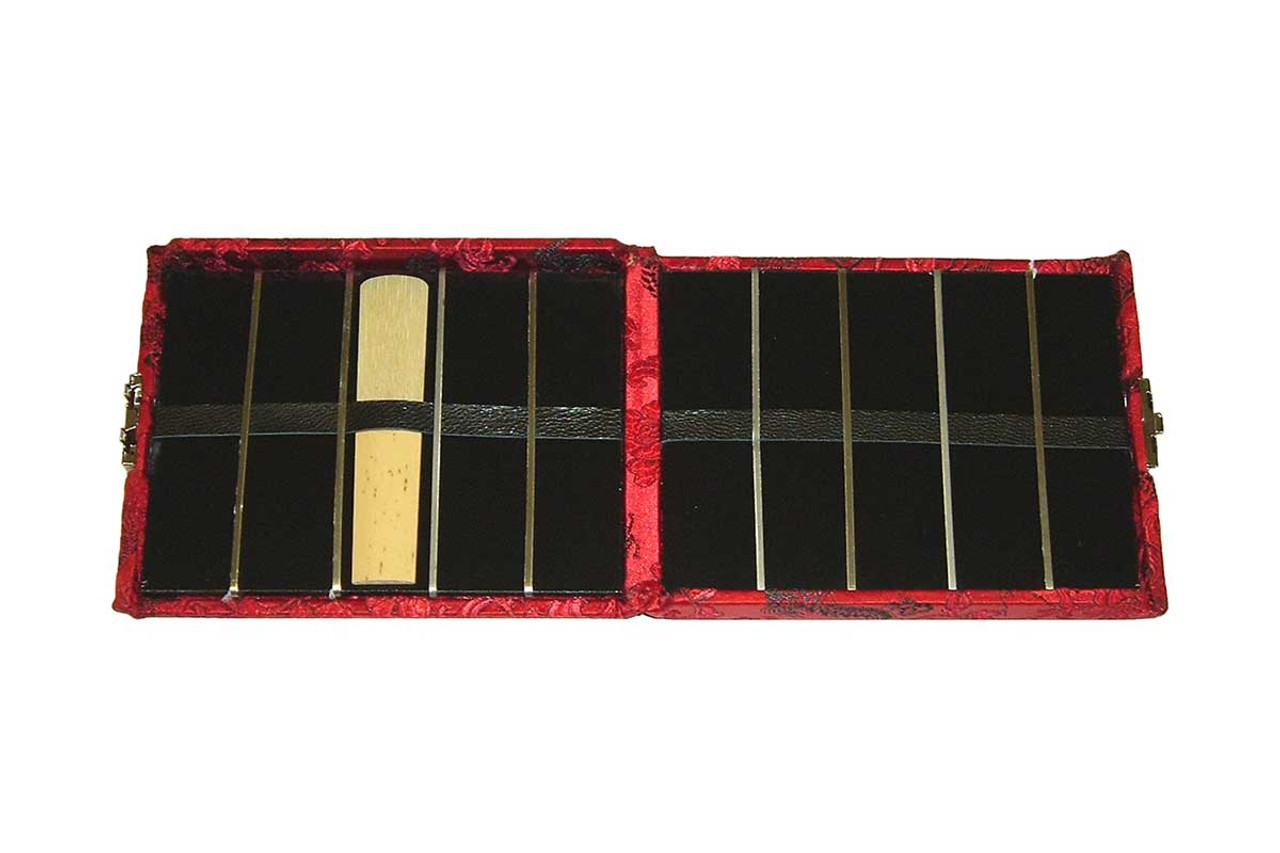 10-Reed Tenor Sax Reed Case, double-sided - Red with Black Dragon Design