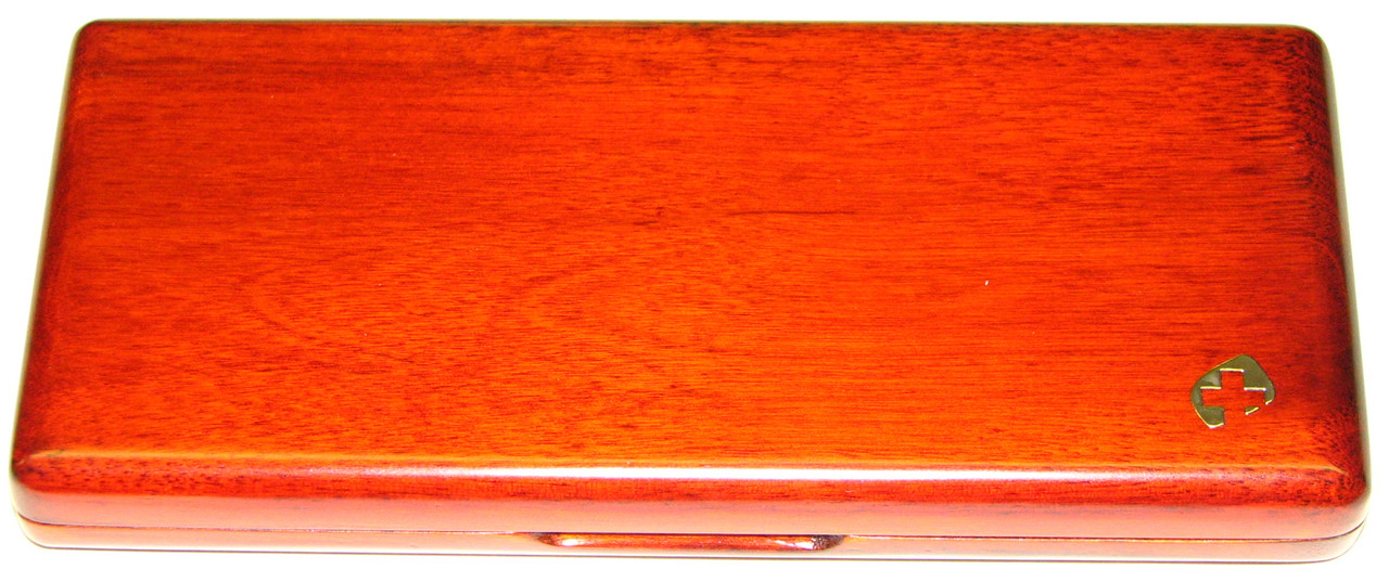 10-Reed Slimline Wood Bassoon Reed Cases by Oboes.ch - stained