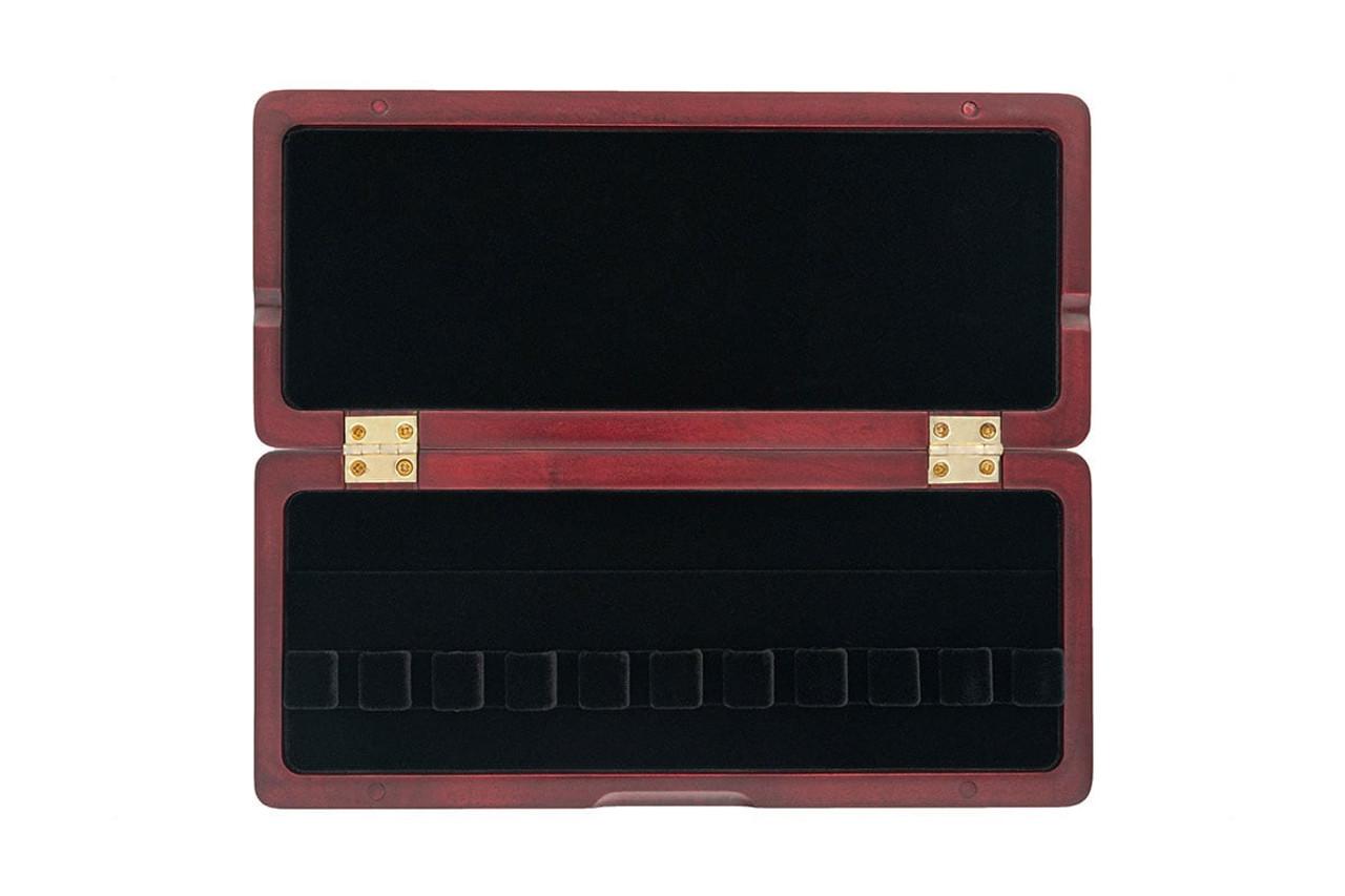 10-Reed Slimline Wood Bassoon Reed Cases by Oboes.ch - padauk