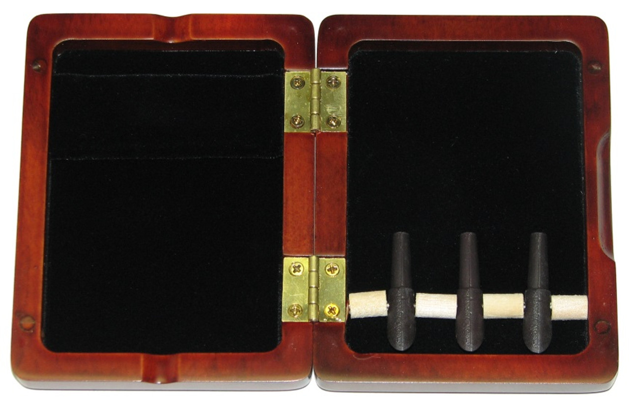 3-Reed Bassoon Reed Case with Mandrels - Stained