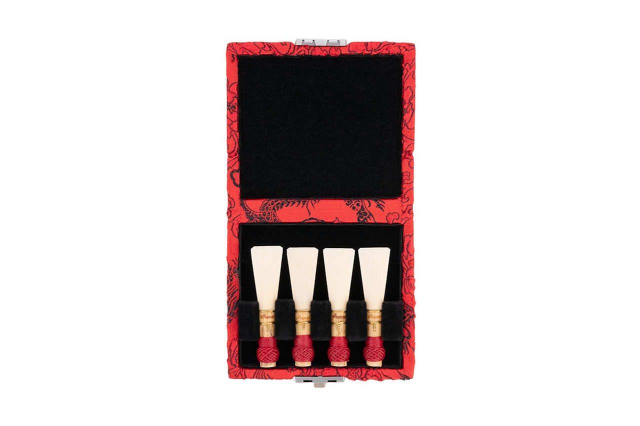 4-Reed Bassoon Reed Cases by Oboes.ch - Red with Black Dragon