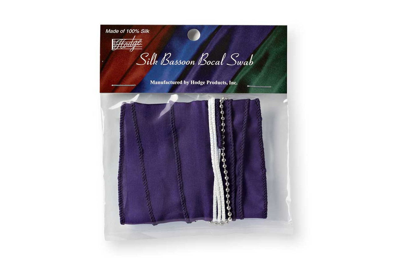 Hodge Silk Bassoon Bocal Swab - Deep Purple