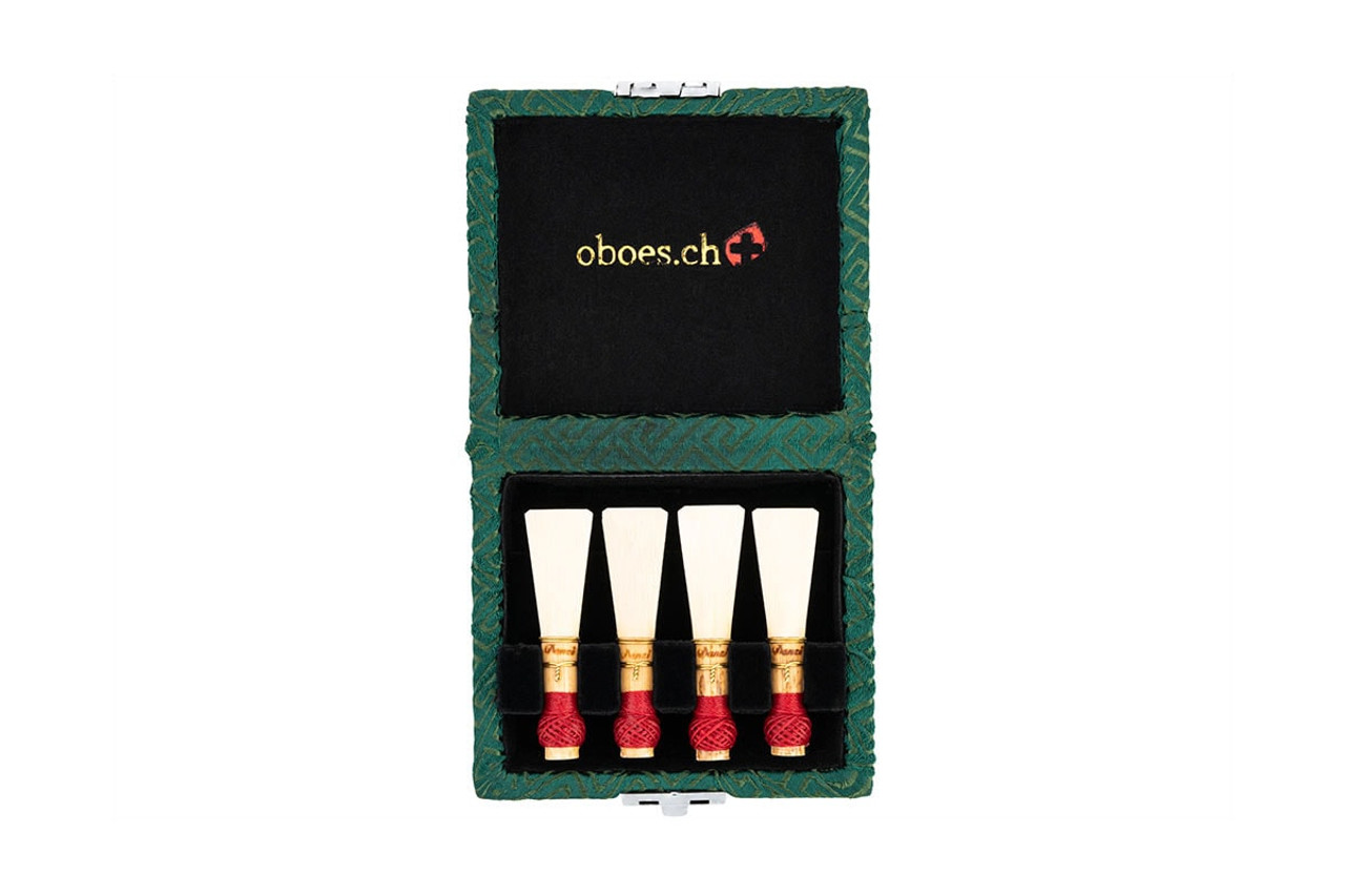 4-Reed Bassoon Reed Cases by Oboes.ch - Green Egyptian